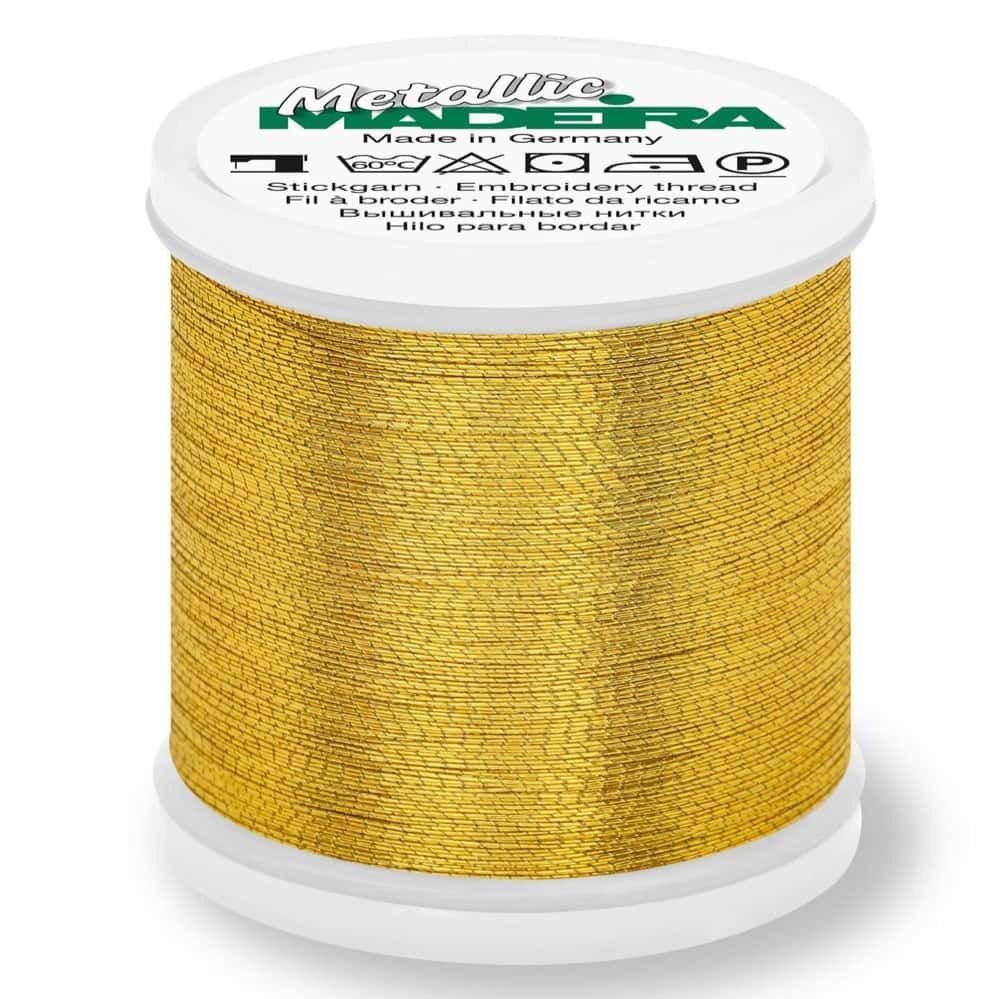 Madeira Metallic Brilliant Sewing And Embroidery Thread 200m - Gold 8 Colour