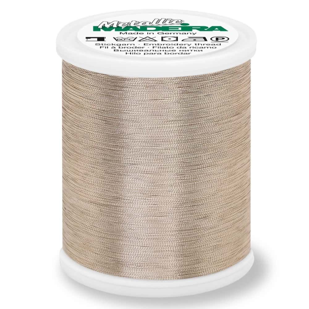 Madeira Metallic Smooth Sewing And Embroidery Thread 1000m - Colour 322 Gold Dust