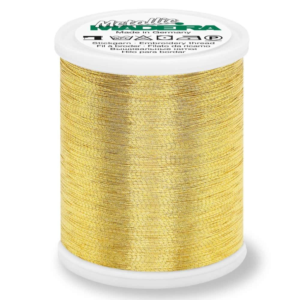 Madeira Metallic Brilliant Sewing And Embroidery Thread 1000m - Gold 6 Colour