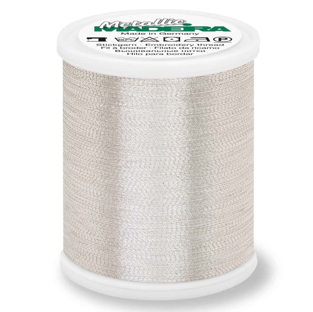 Madeira Metallic Brilliant Sewing And Embroidery Thread 1000m - Silver Colour