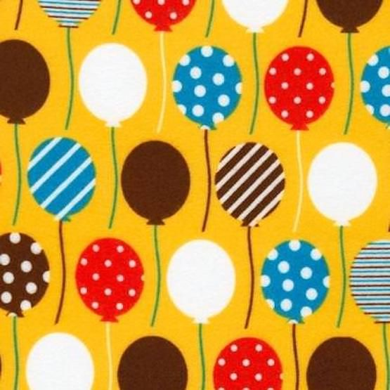 Robert Kaufman - Urban Flotology Flannel Fabric - Balloons Wild