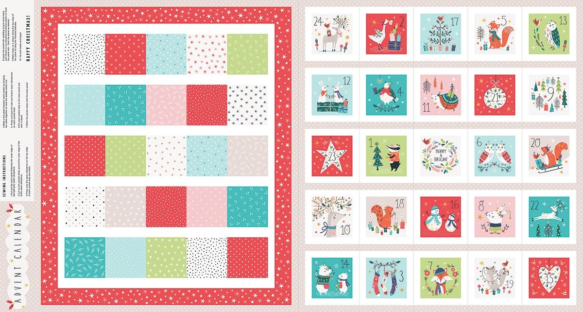 Dashwood Studio - Forest Friends - Advent Calendar With Metallic - 60cm Panel - With Option For A Kit
