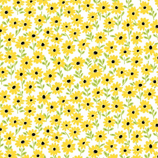 Andover - Sunny Bee - Daisies White
