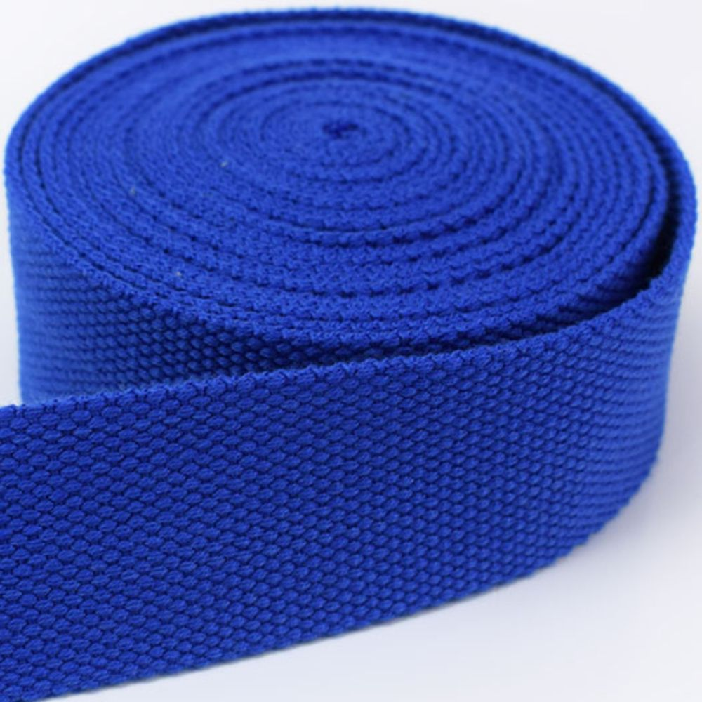 Strong Thick Woven Canvas Webbing  - Blue -  25mm Wide