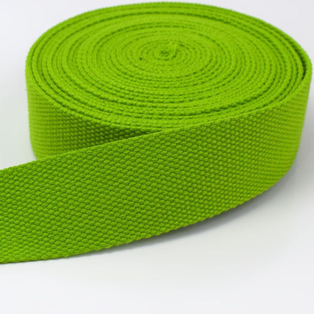 Strong Thick Woven Canvas Webbing  - Green -  25mm Wide