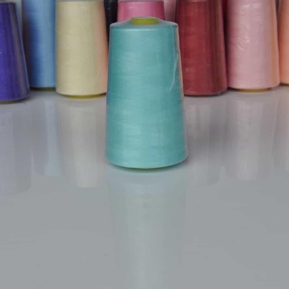 Remnant -Polyester Overlocker Thread 120's 5000 Yard Aqua - Cone out of shape at bottom