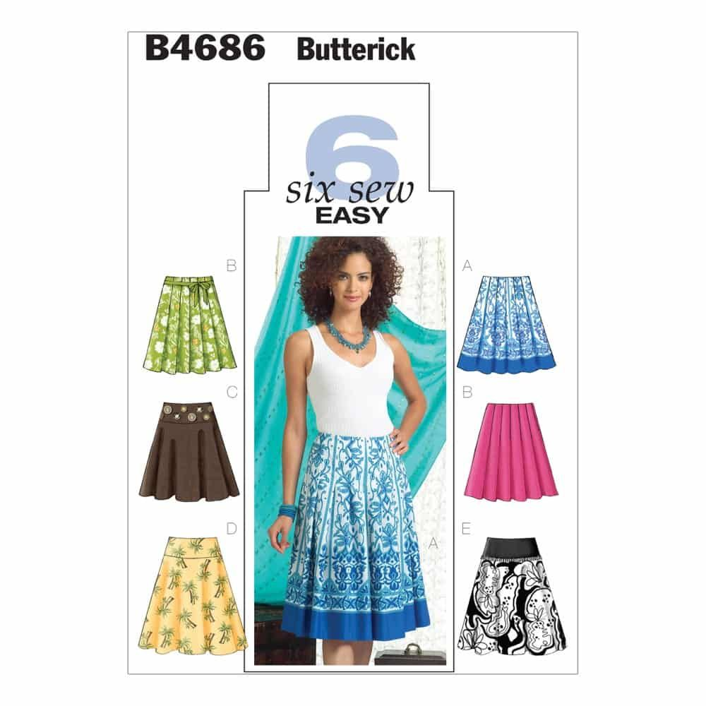 Butterick Sewing Pattern B4686 Misses' Skirt