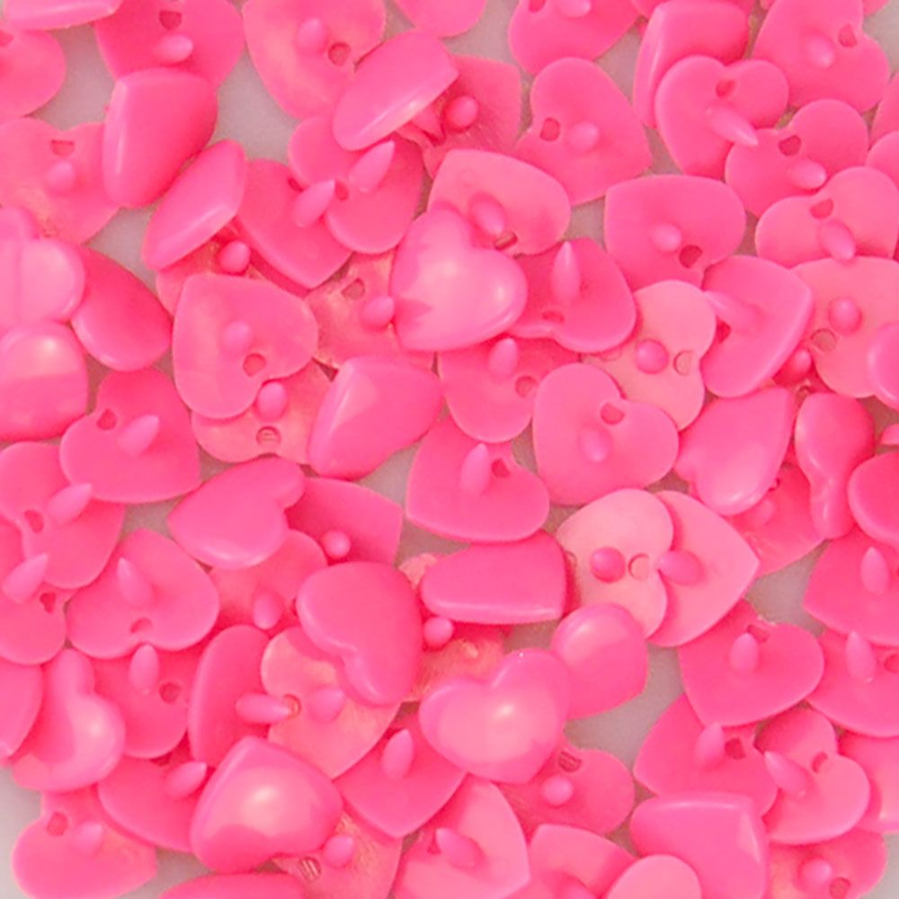 Heart Kam Snaps - Size 20 - B47 Neon Pink - 100 Sets