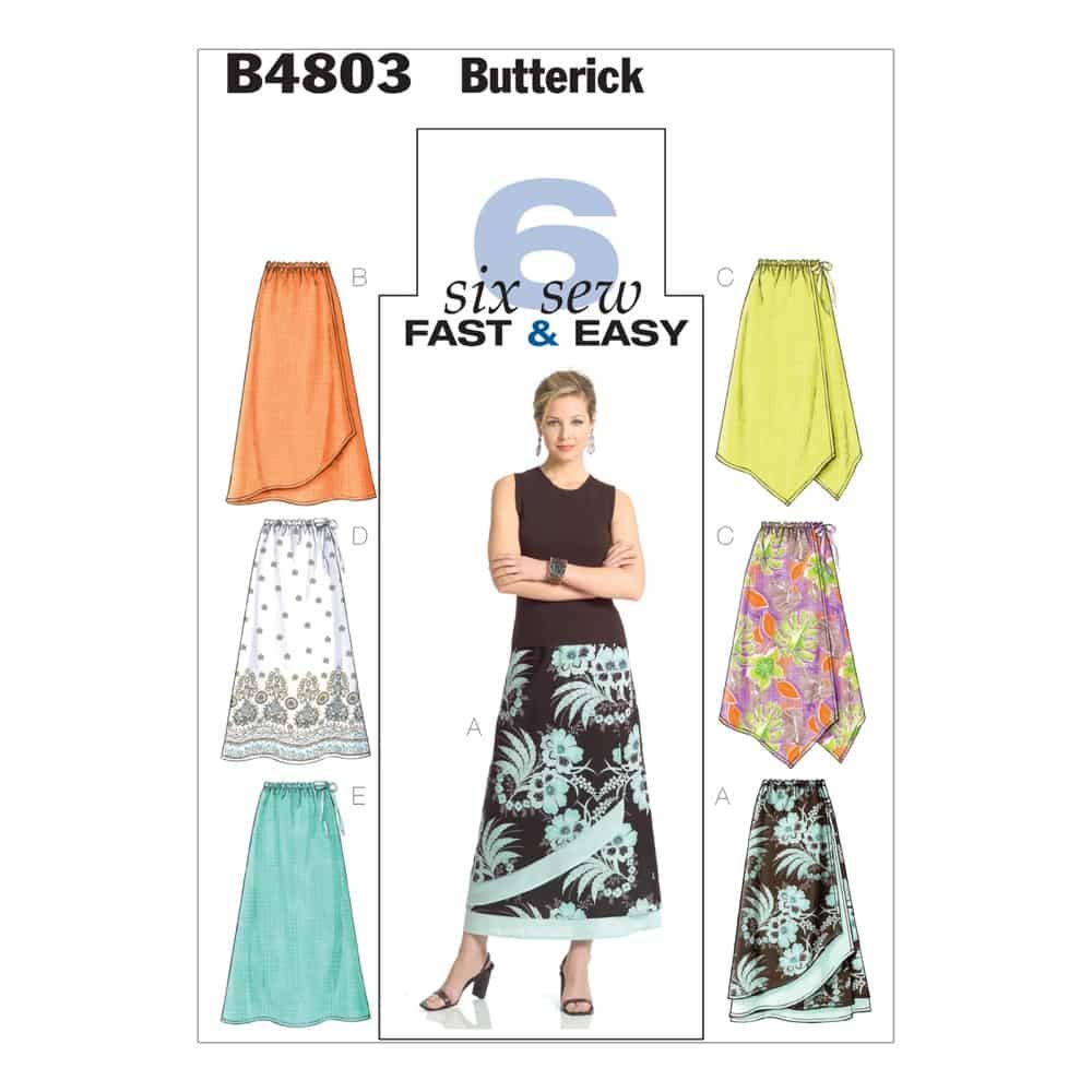 Butterick Sewing Pattern B4803 Misses'/Misses' Petite Skirt