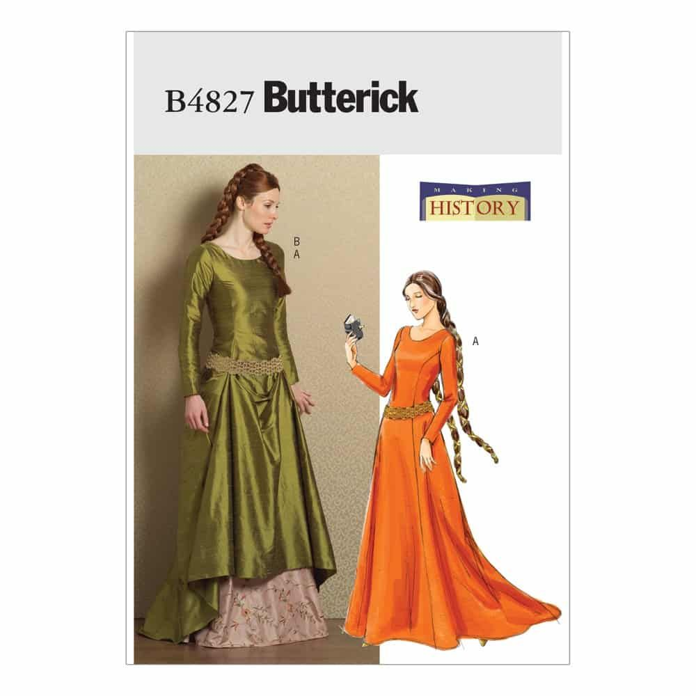 Butterick Sewing Pattern B4827 Misses' Medieval Dress and Belt