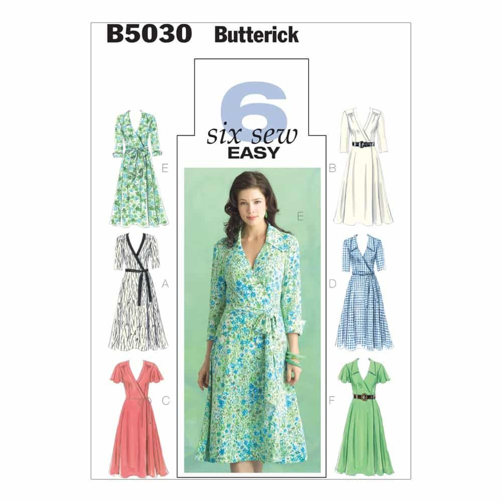 Butterick Sewing Pattern B5030 Misses' Dress, Belt and Sash