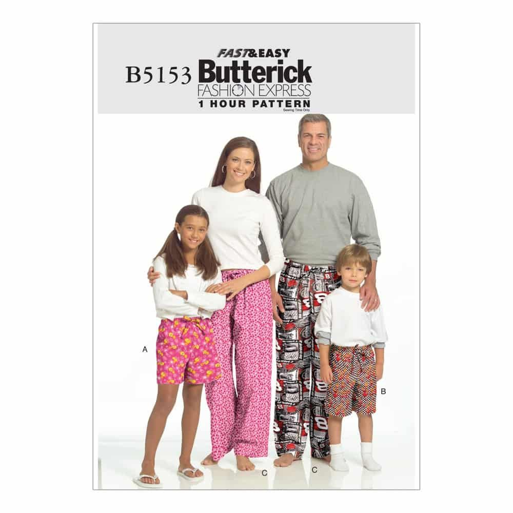 Butterick Sewing Pattern B5153 Misses'/Men's/Children's/Boys'/Girls' Shorts and Pants