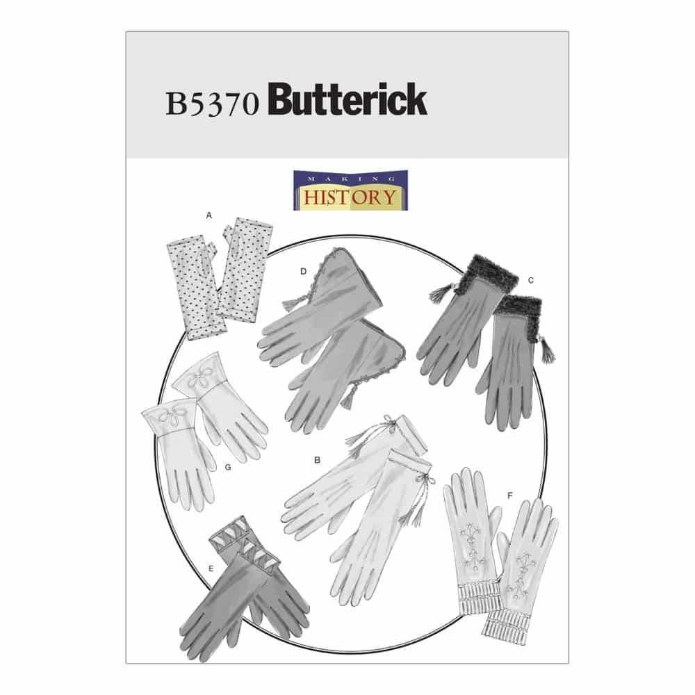 Butterick Sewing Pattern B5370 Historical Gloves