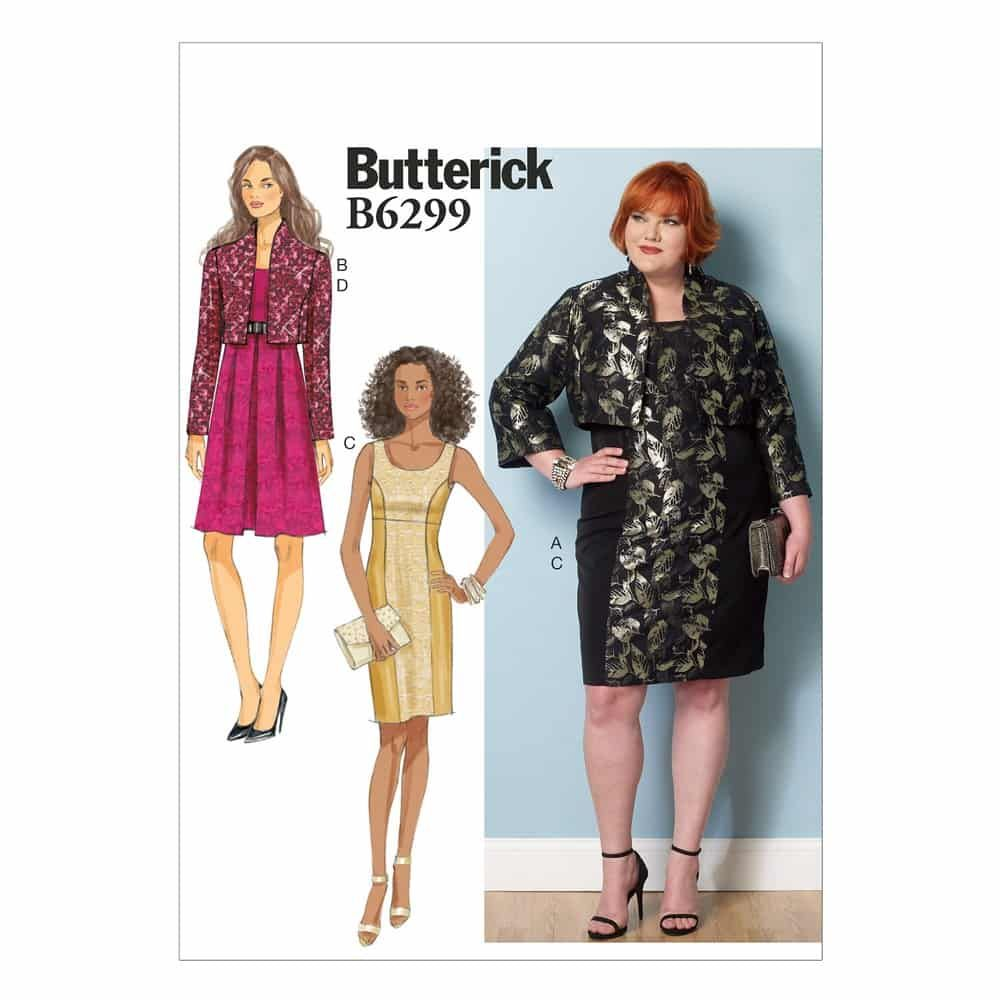 Butterick Sewing Pattern B6299 Misses'/Women's Jacket and Dress