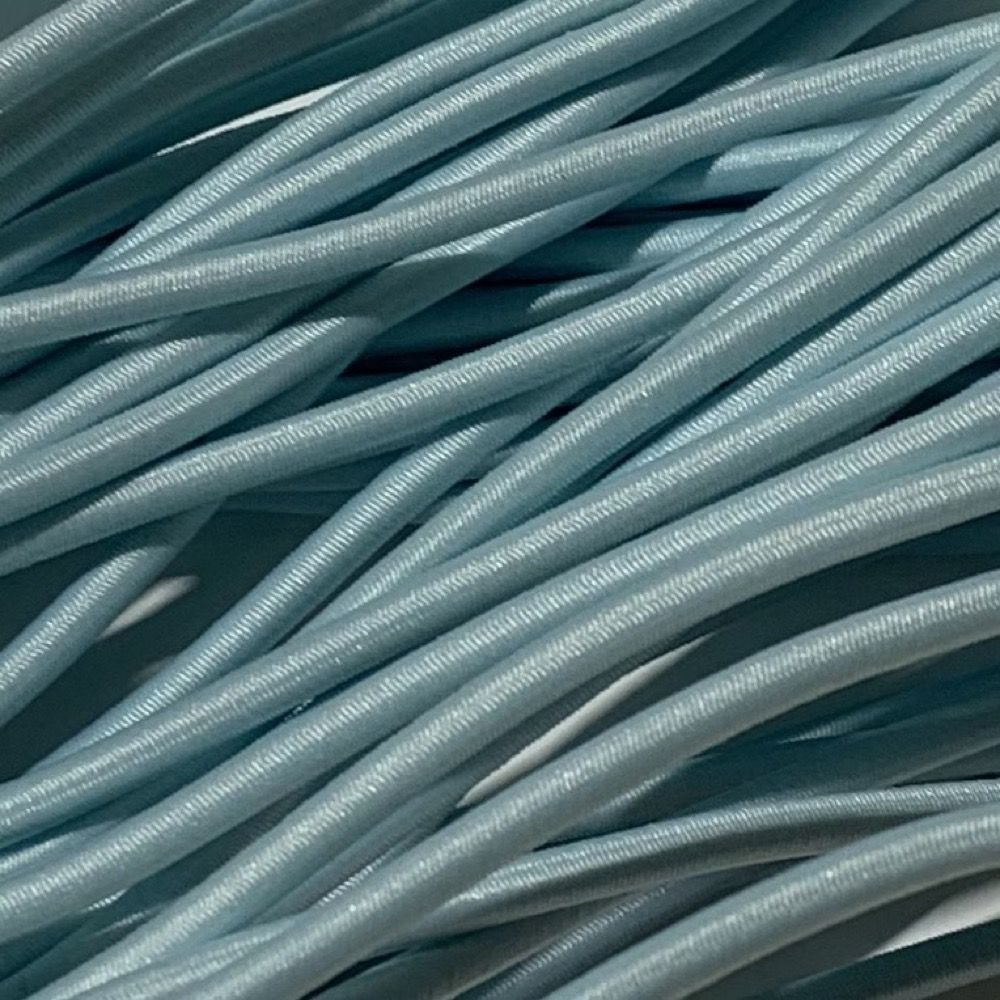 Round Elastic Cord - 3mm Wide - Baby Blue