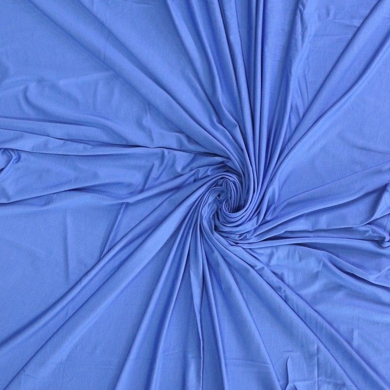 Solid Colour Bamboo Jersey Fabric - Royal Blue