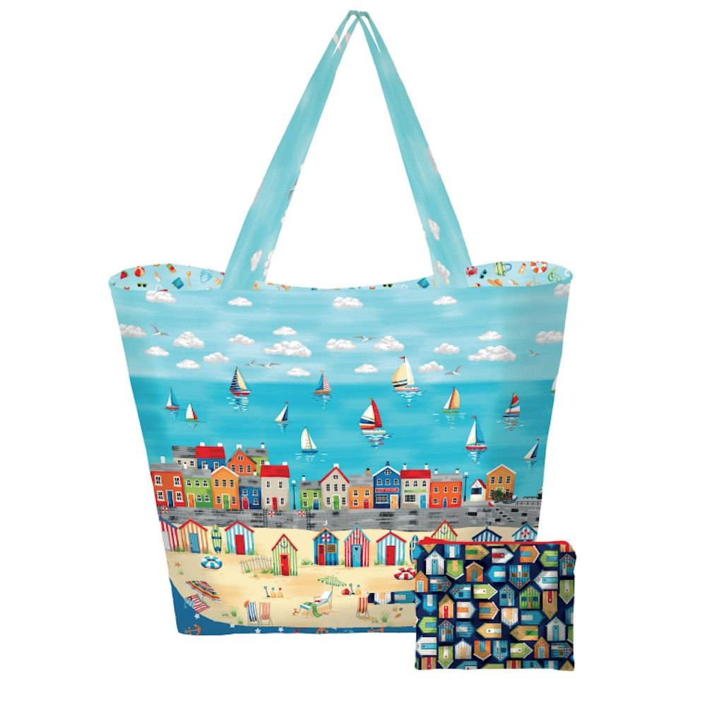 Makower - Beside The Sea - Beach Bag And Pouch Pattern - Free Instant Download