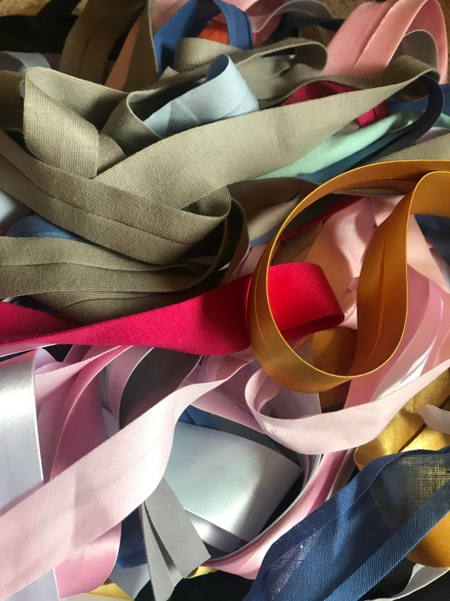 Remnant -  Mixed Satin Bias Binding Bundle - 20 metres approx