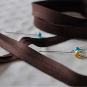 13mm Bias Binding Chocolate