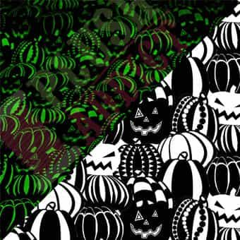 Blank - The Boo Crew - Pumpkins On Black Glow In The Dark