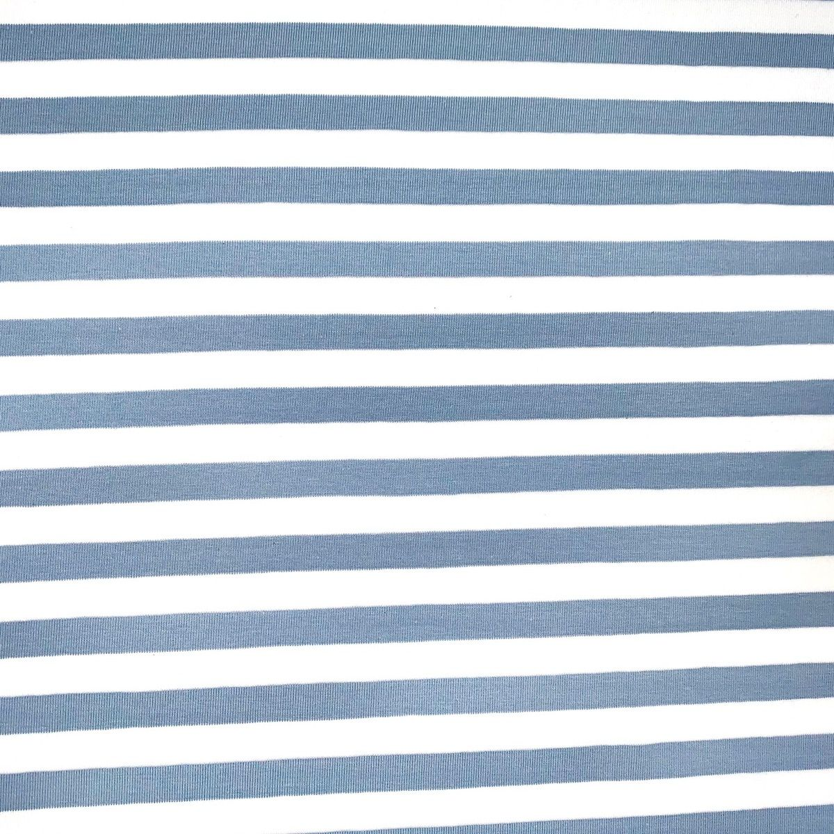 Yarn Dyed Cotton Jersey Knit - Blue Stripe