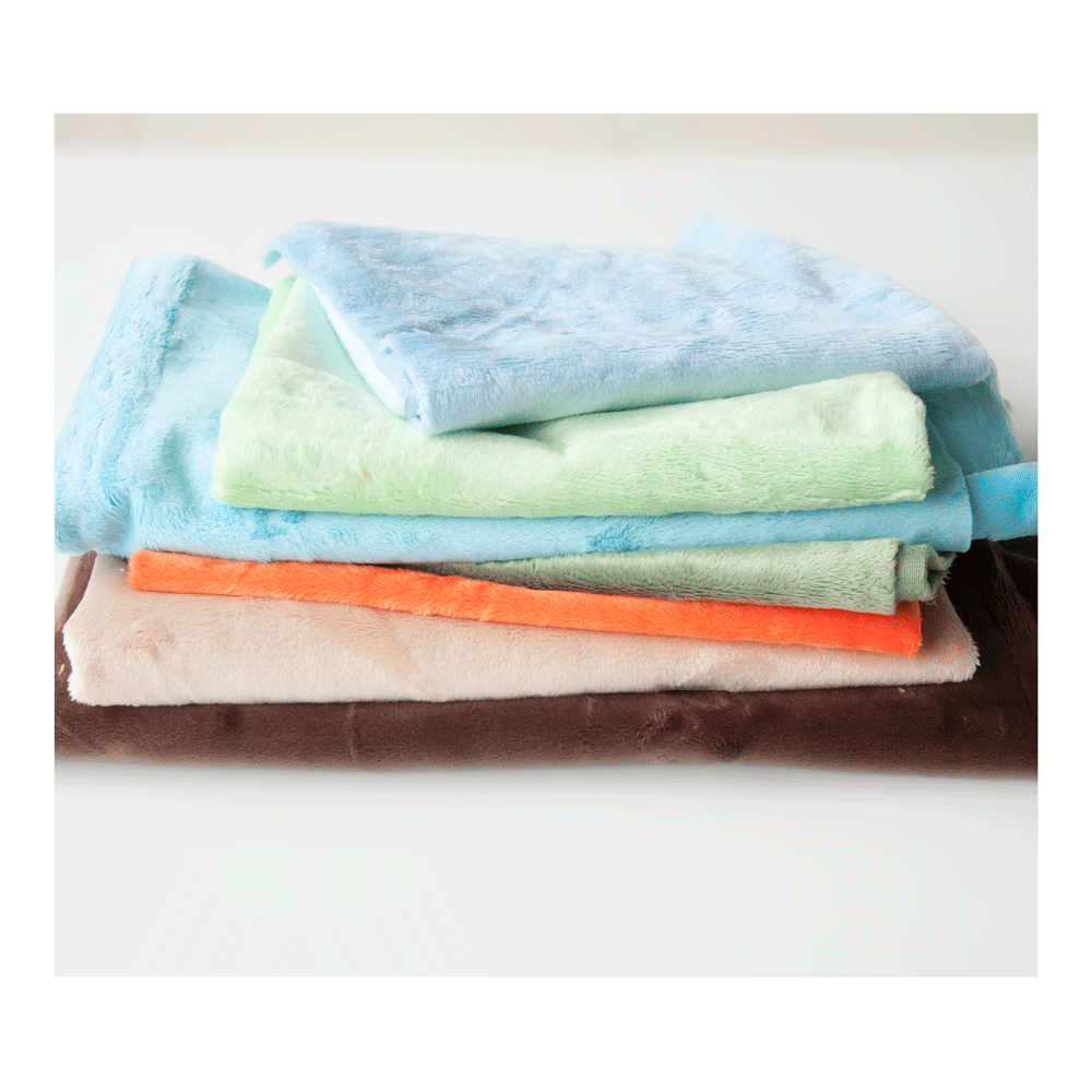 Smooth Plush Remnant Bundle: Boy Colours 1m approx