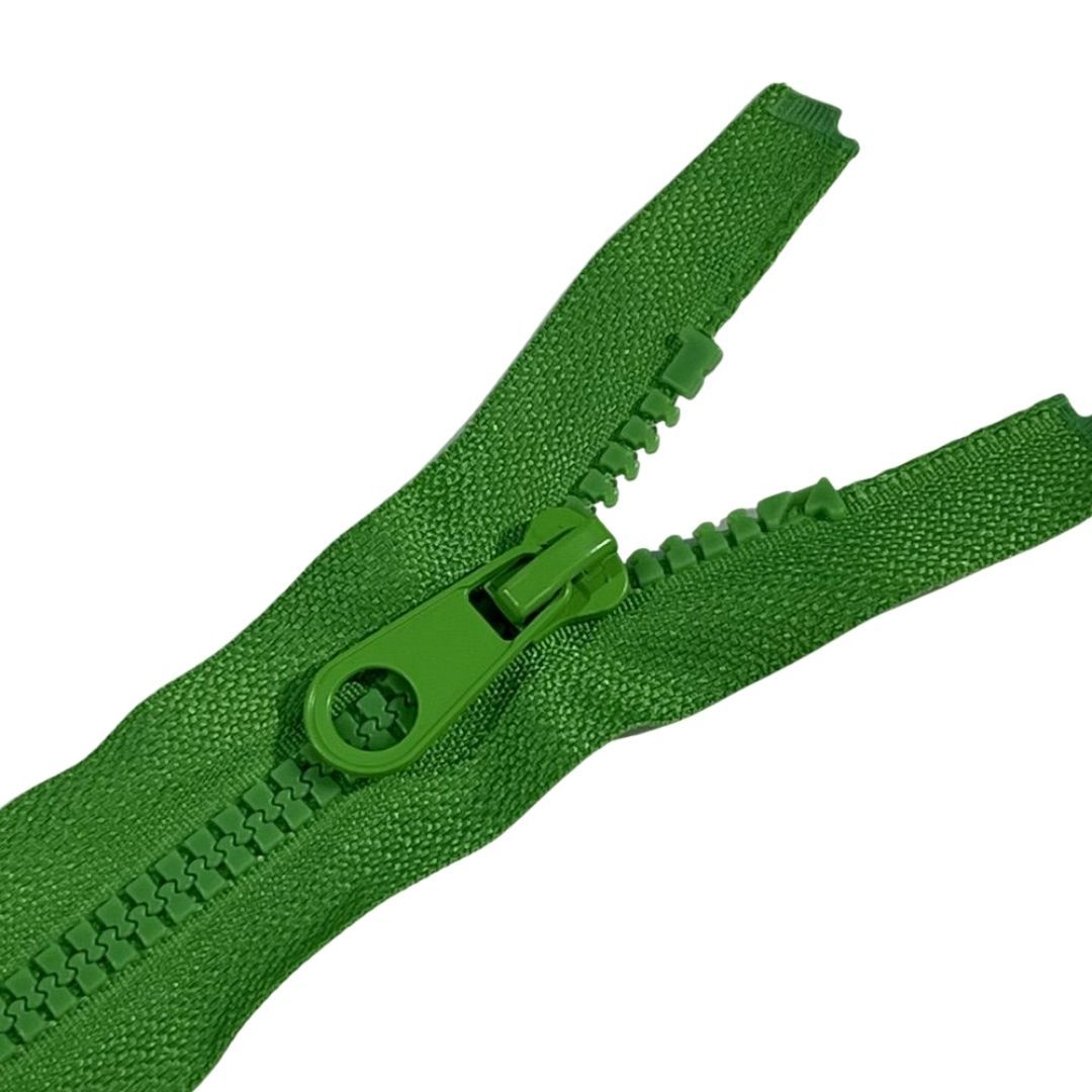 Chunky Open Ended Zips - Bright Green - 10 Inches Up to 36 Inches
