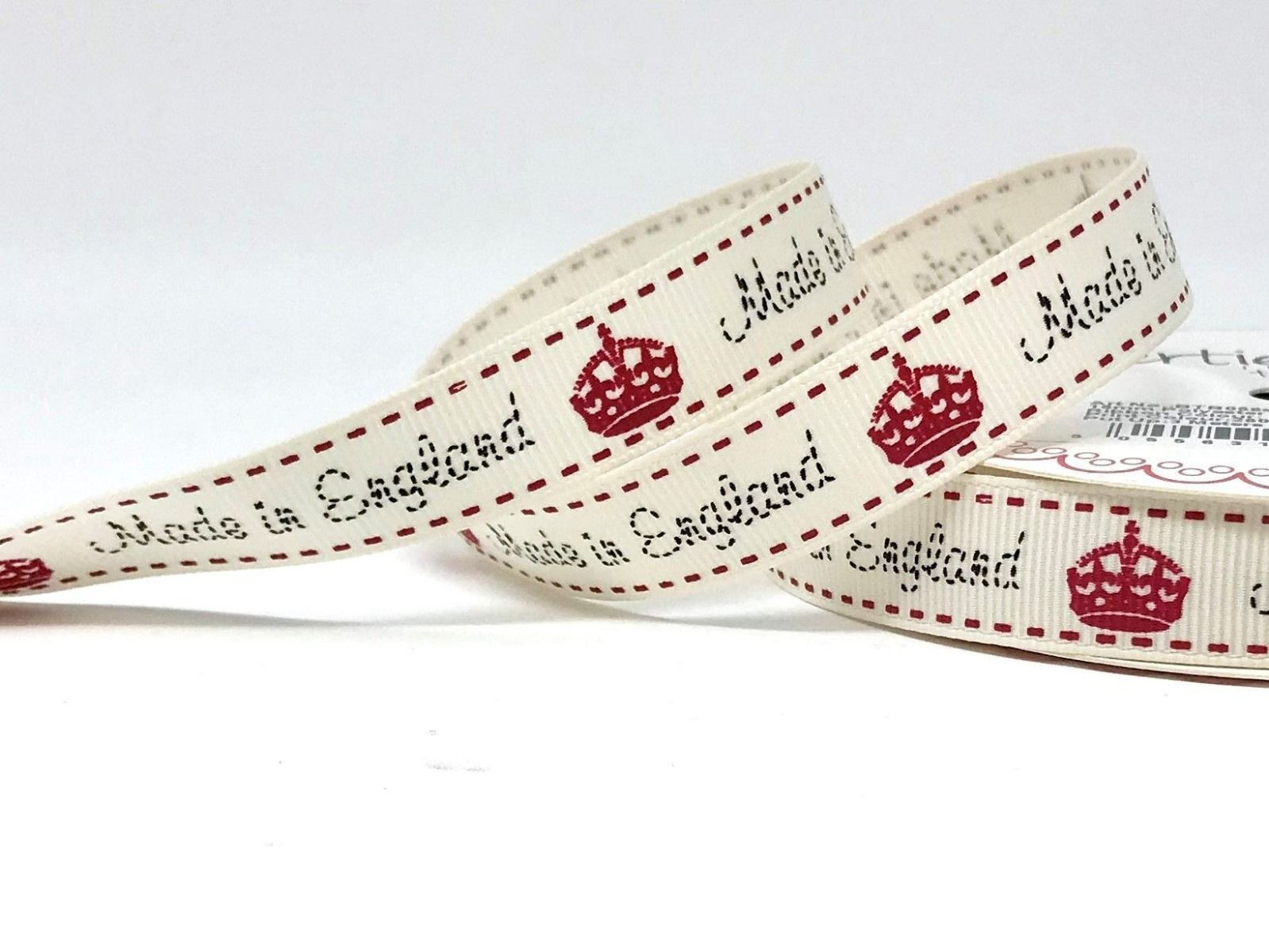 Berties Bows - Made In England On Grosgrain Ribbon - 16mm Wide