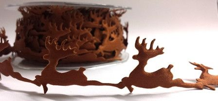 Berties Bows Novelty Christmas Trim - Prancing Reindeer - 25mm