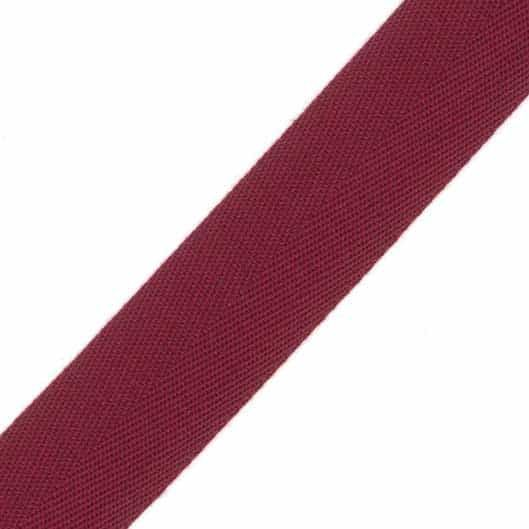 38mm Acrylic Herringbone Webbing Wine