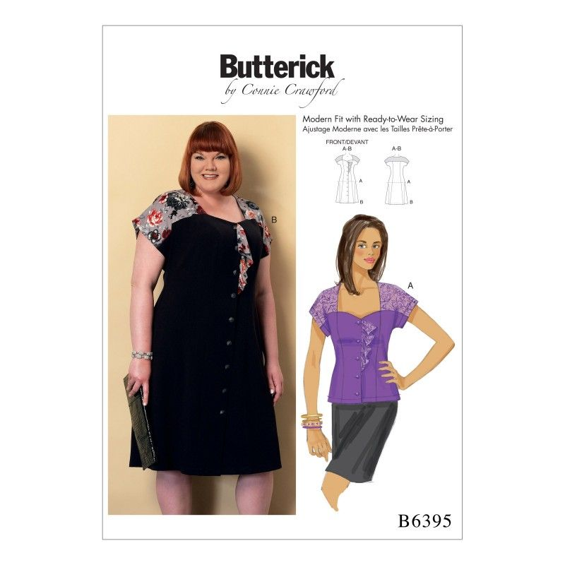 Remnant - Butterick Pattern B6395- MISS - Xsm/Sml/Med/Lrg/Xlg-  End of Line