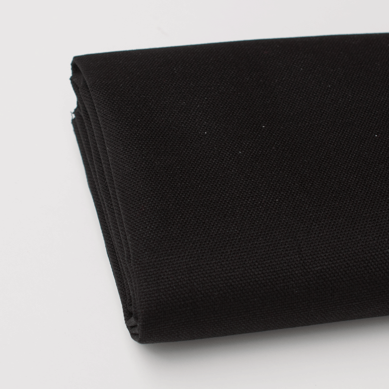 Solid Cotton Canvas - Black