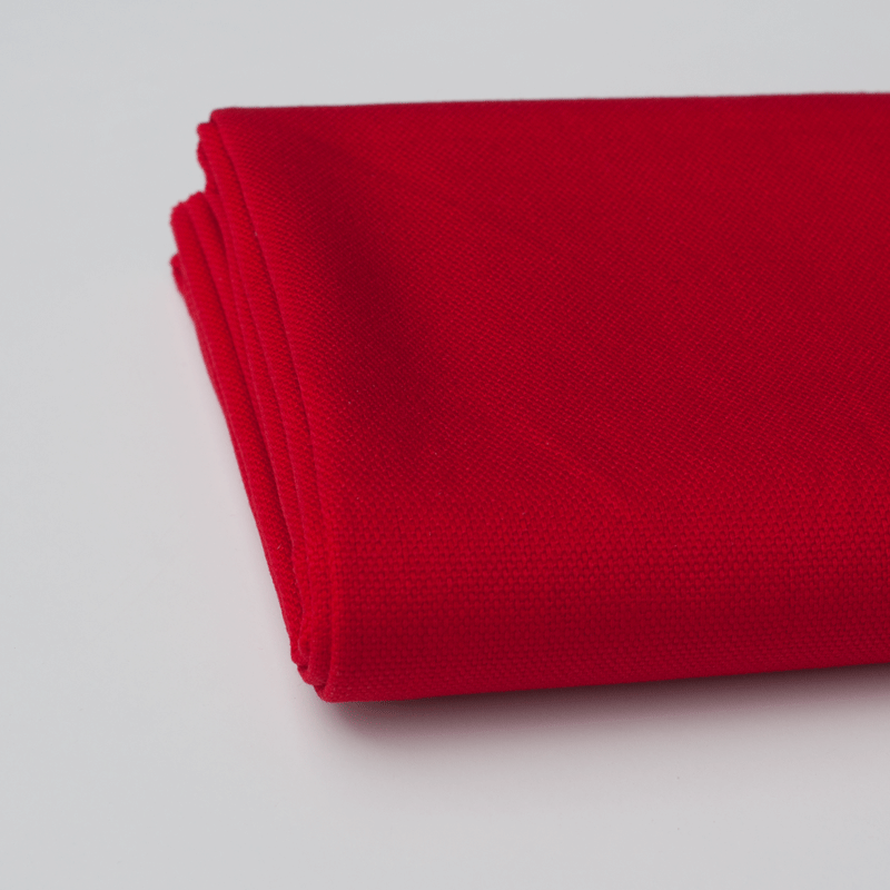 Solid Cotton Canvas - Red
