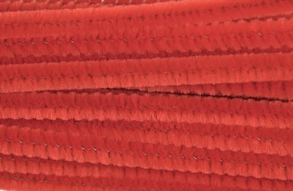 Chenilles / Pipe Cleaners - Red 12mm x 300mm - 15 Per Pack