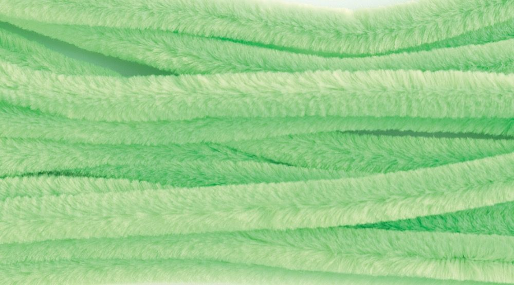 Chenilles / Pipe Cleaners - Lime 12mm x 300mm - 15 Per Pack