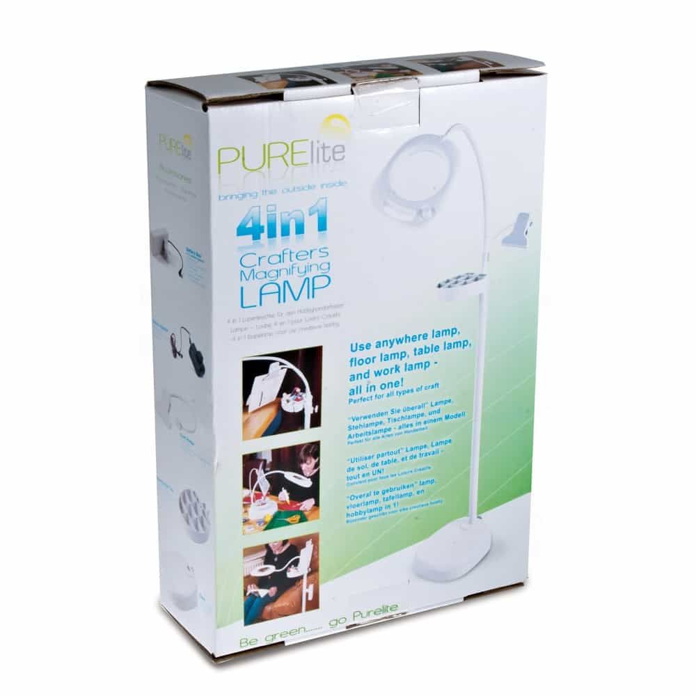 PURElite 4-in-1 Crafters Magnifying Lamp 150mm Lens