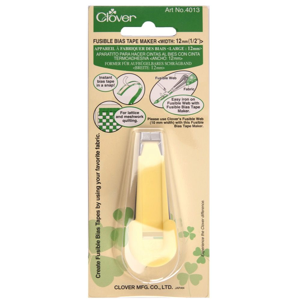 Clover Fusible Bias Tape Maker - 12mm Wide