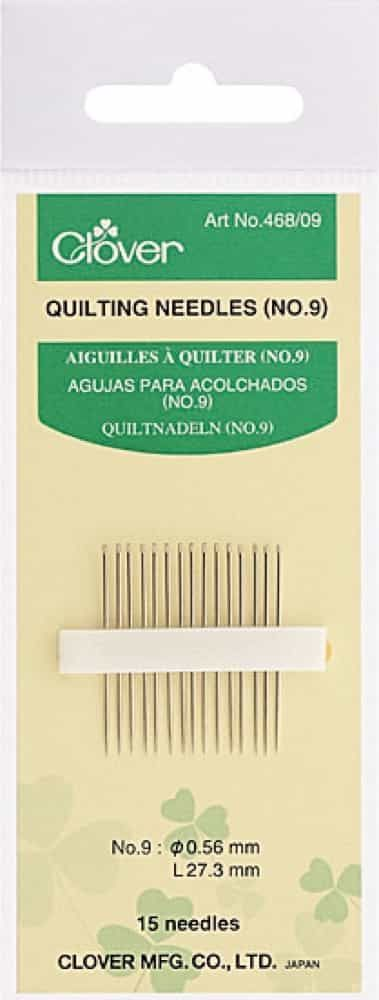 Clover Quilting Needles Size No 9: 15 to a Pack