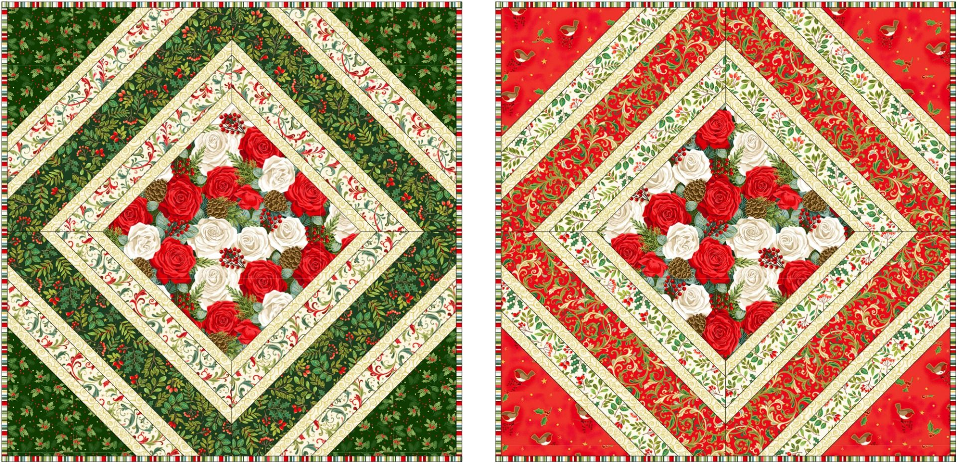Makower - Classic Foliage - Cushions - Free Project - Free Instant Download