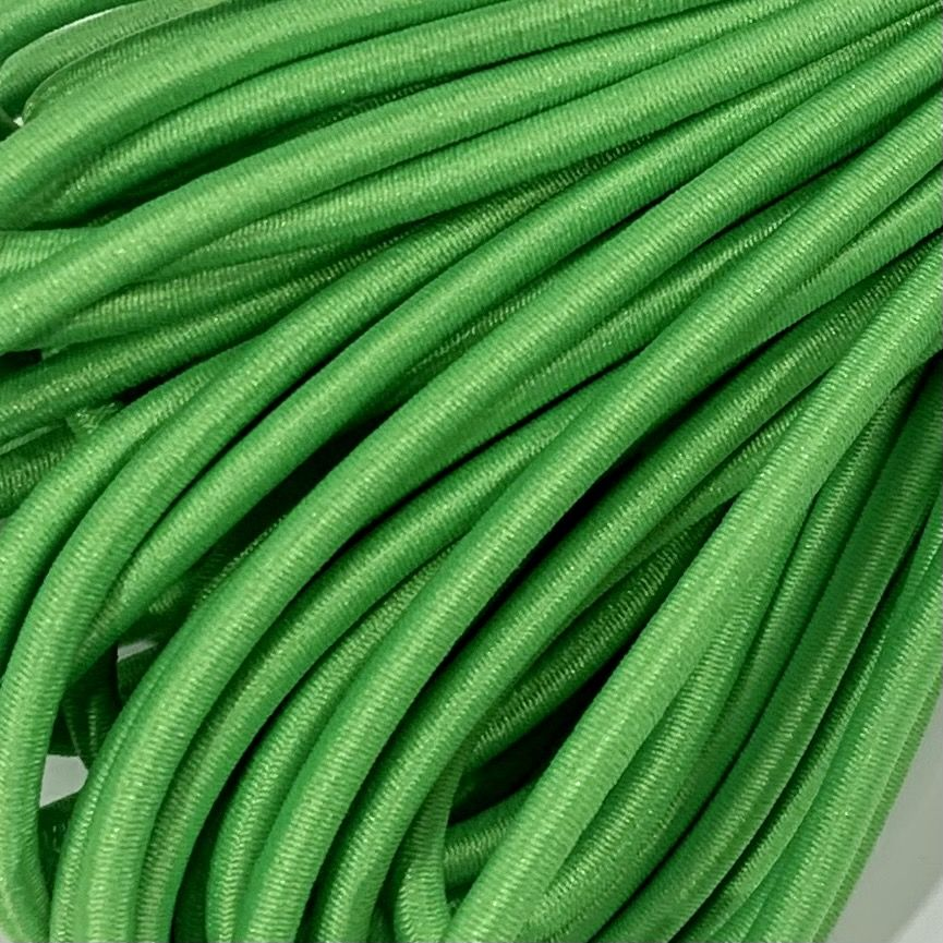 Round Elastic Cord - 3mm Wide - Bright Green