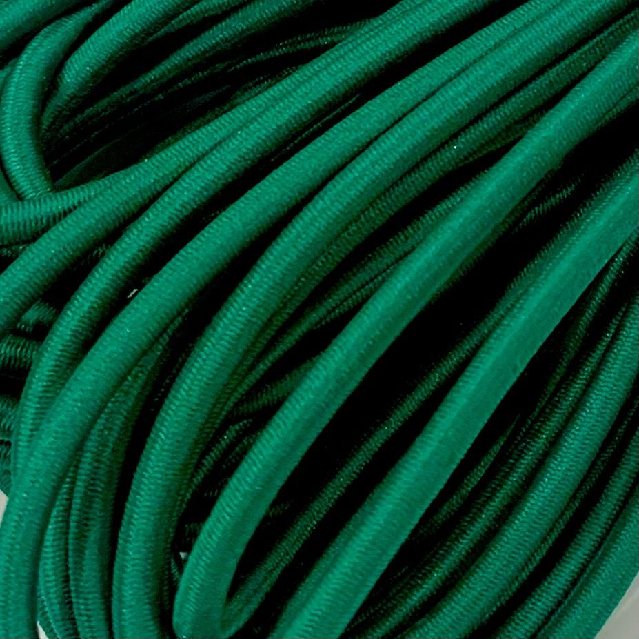 Round Elastic Cord - 3mm Wide - Emerald