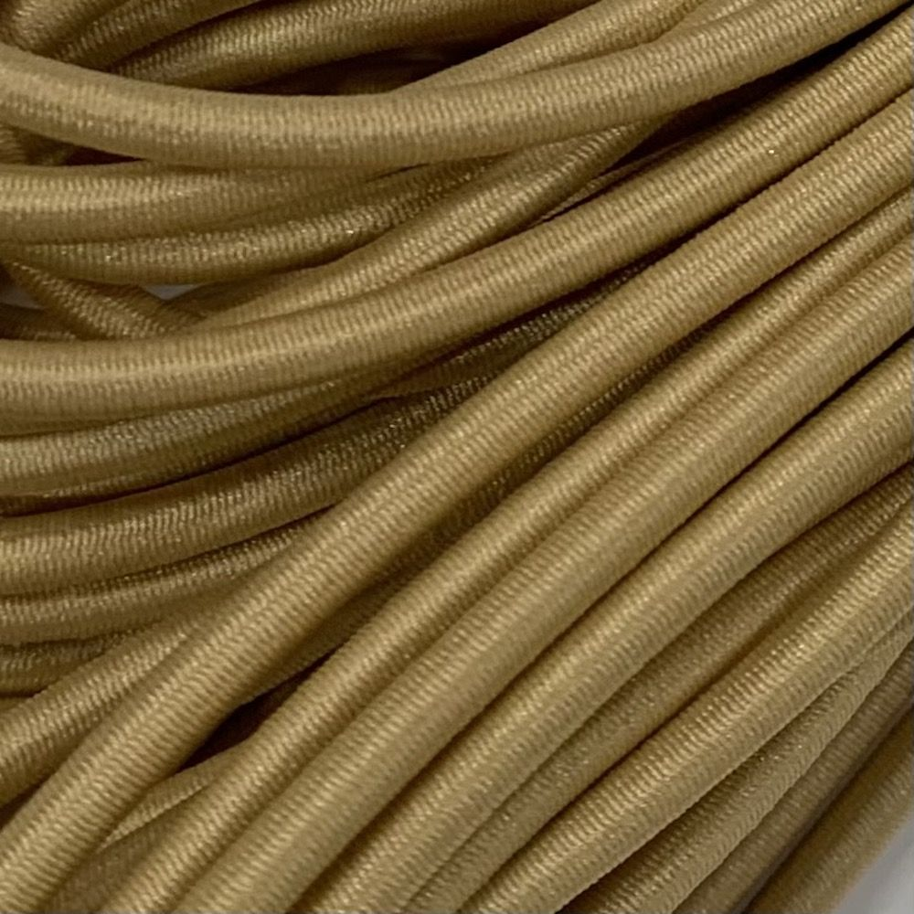 Round Elastic Cord - 3mm Wide - Golden Yellow
