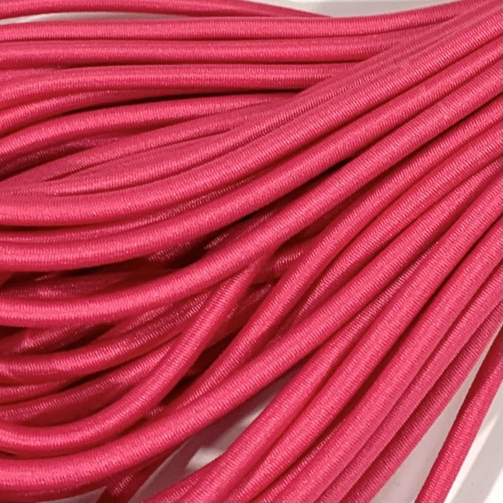Round Elastic Cord - 3mm Wide - Hot Pink