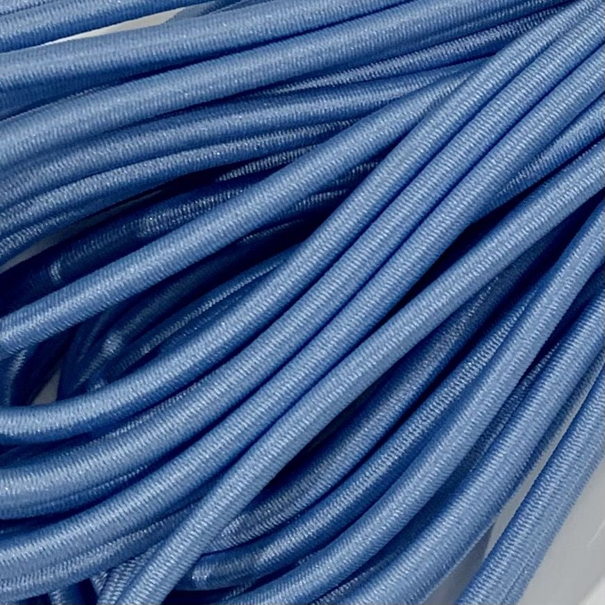 Round Elastic Cord - 3mm Wide - Light Blue