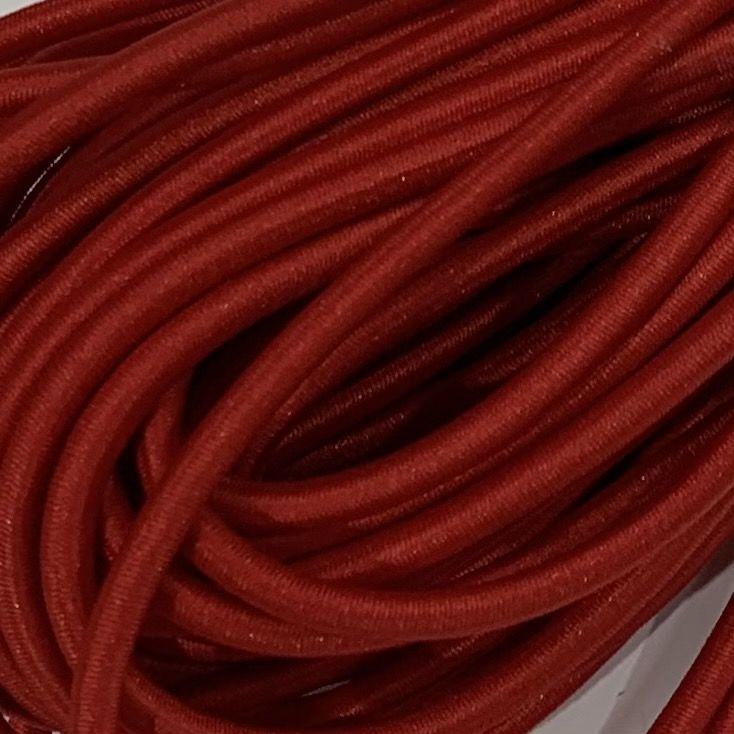 Round Elastic Cord - 3mm Wide - Red
