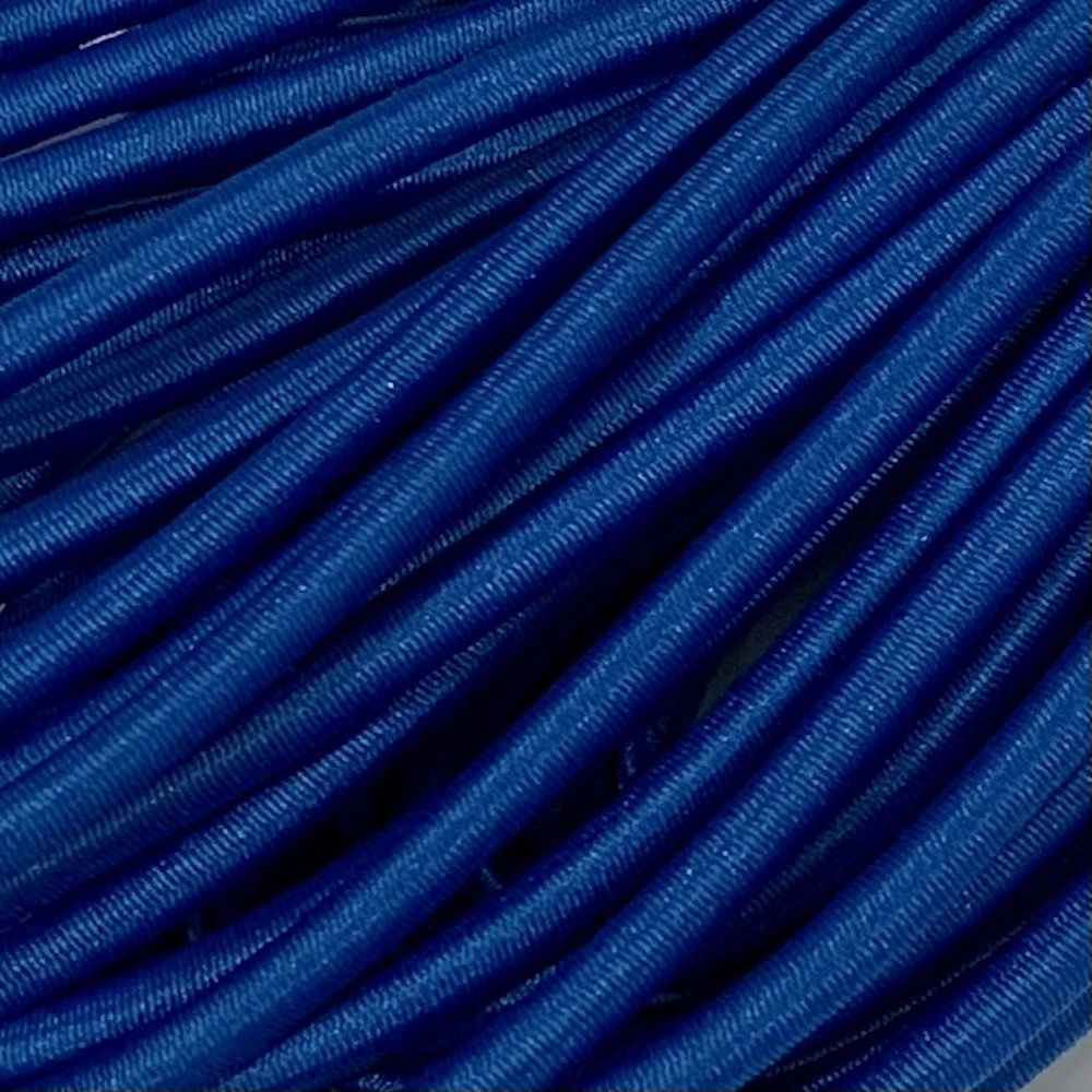Round Elastic Cord - 3mm Wide - Royal Blue