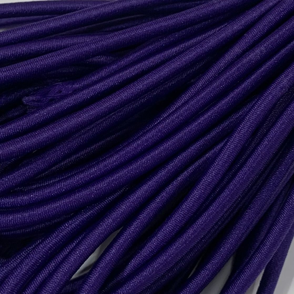 Round Elastic Cord - 3mm Wide - Violet