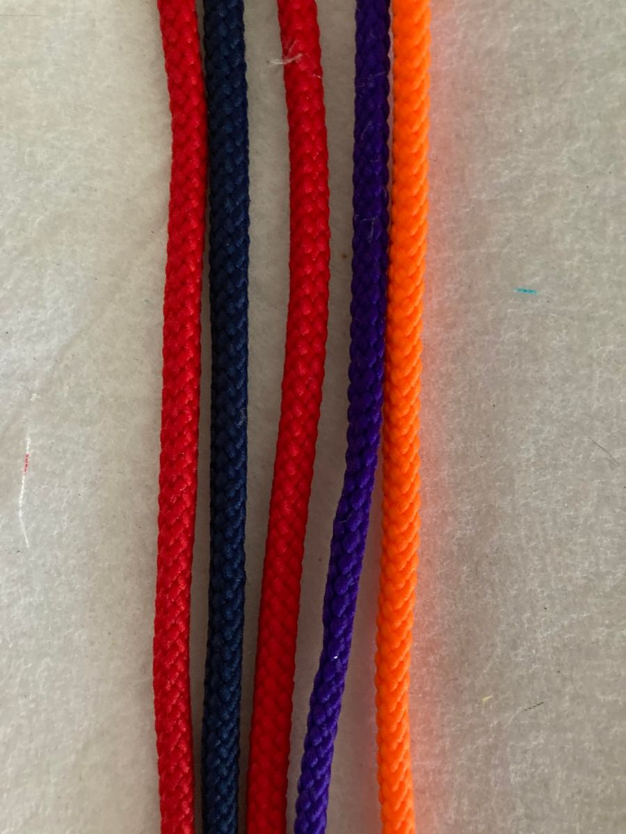 Remnant - Polyester Braided Cord - 4 colours - 6.75cm LENGTH in Total