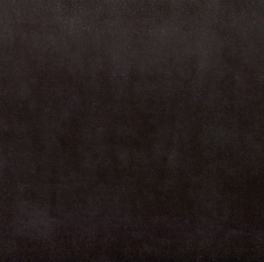 Stretch Cotton Velour Plush Fabric - Black