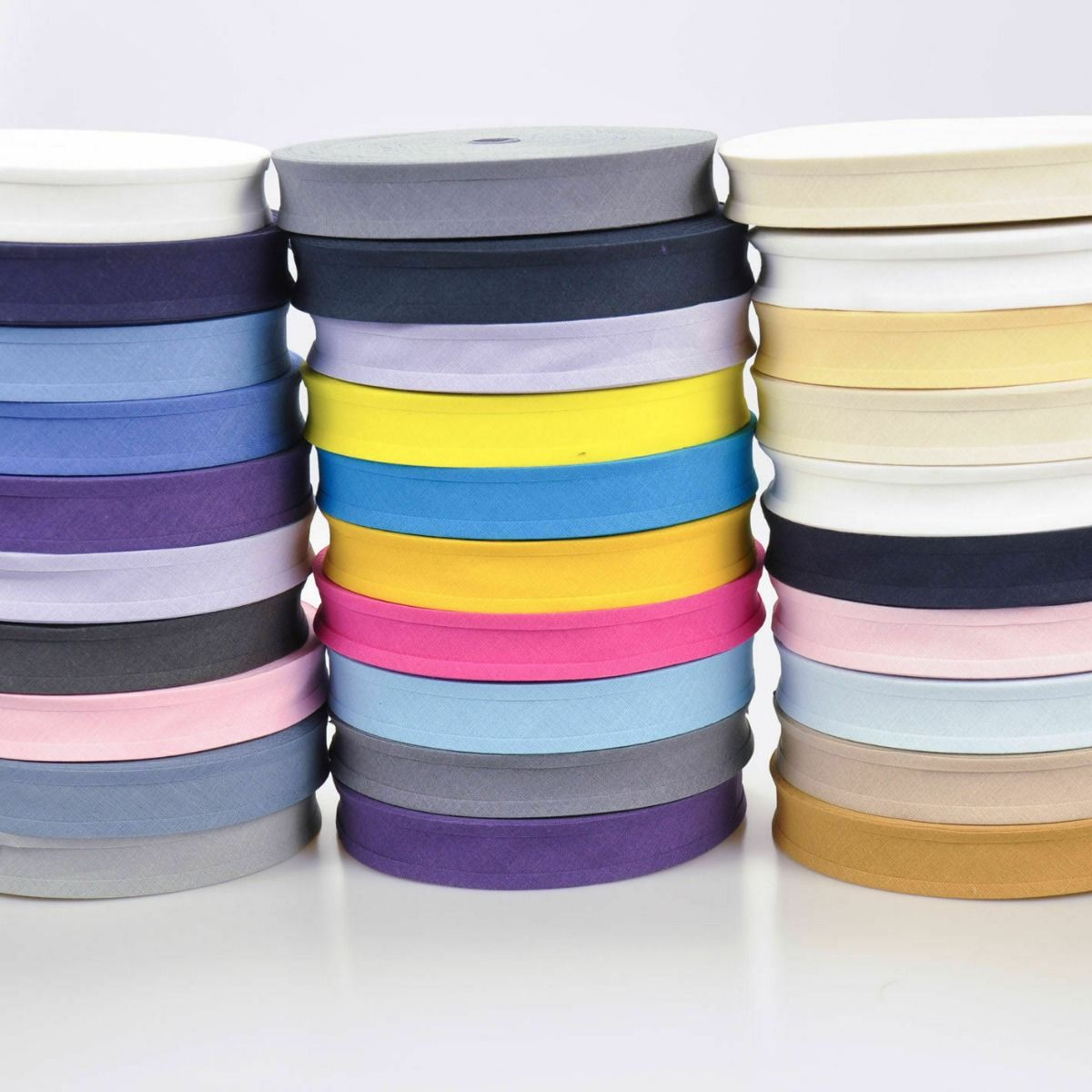 Remnant - 25mm Cotton Bias - 16 colours - Lucky Dip- 500m in total - Discontinued Line